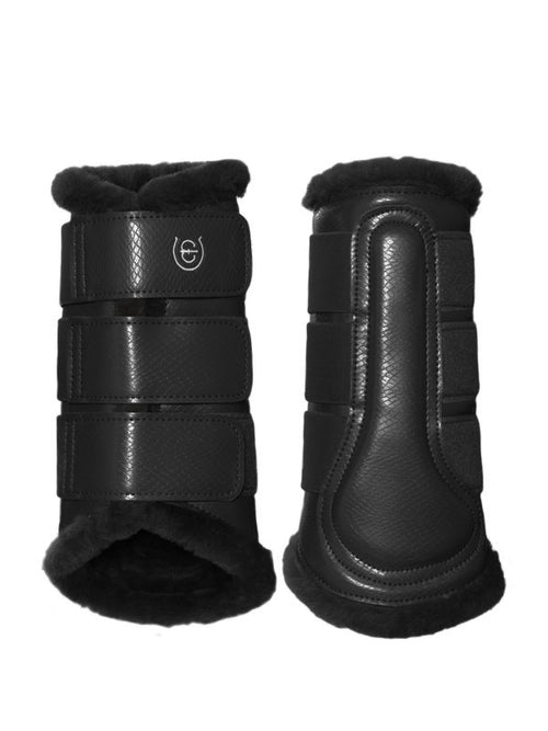Equestrian Stockholm Fleece Brushing Boots Black Edition