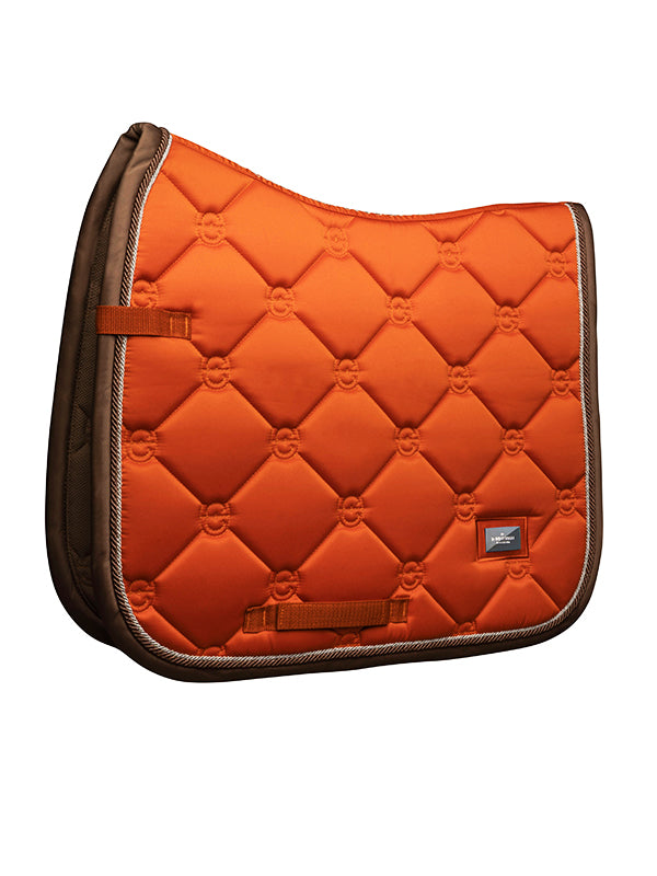 Equestrian Stockholm Dressage Saddle Pad Brick Orange