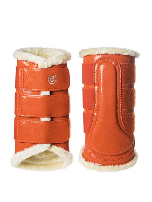 Equestrian Stockholm Fleece Brushing Boots Brick Orange