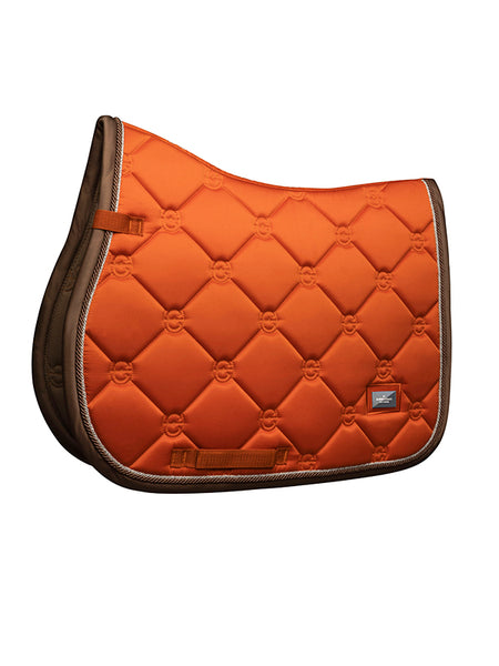 Equestrian Stockholm Jumping Saddle Pad Brick Orange