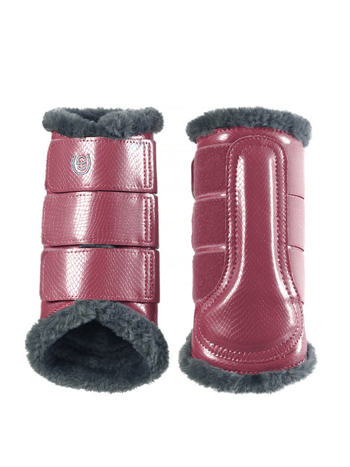Equestrian Stockholm Fleece Brushing Boots Winter Rose