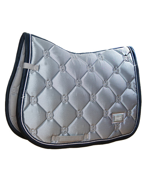 Equestrian Stockholm Jumping Saddle Pad Crystal Grey