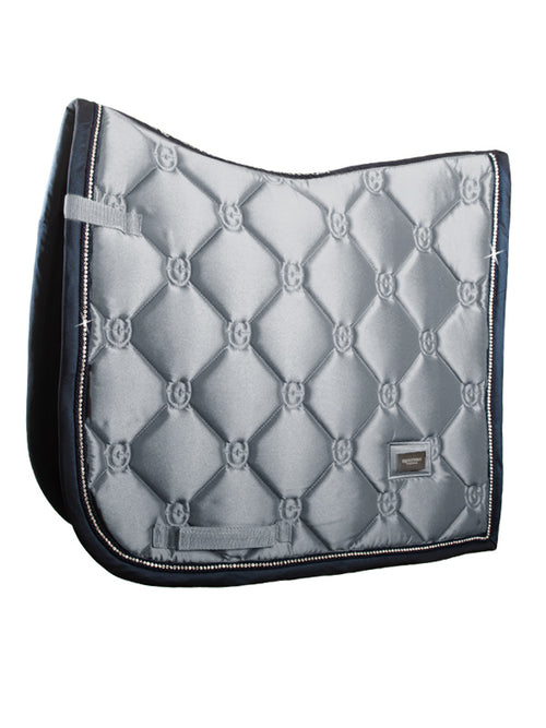 Equestrian Stockholm Dressage Saddle Pad Crystal Grey