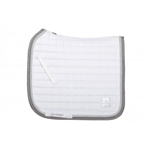 SD Design Show Dressage Saddle Pad White & Grey