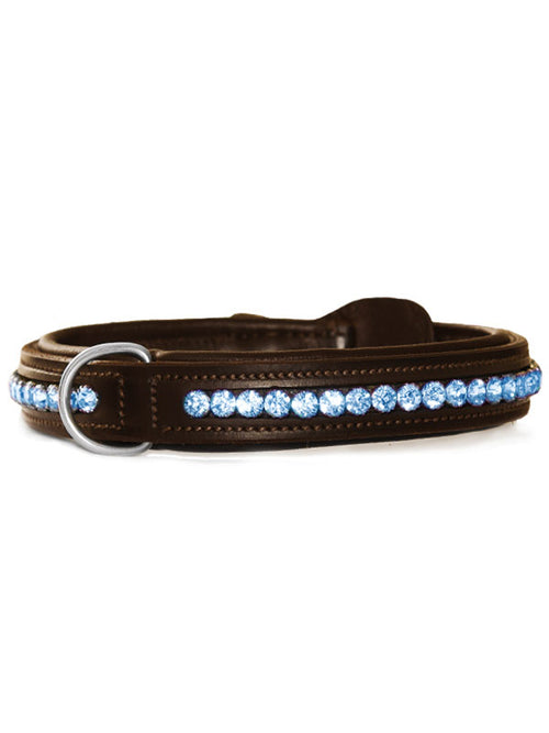 Equestrian Stockholm Dog Collar Parisian Blue
