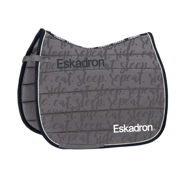 Eskadron Ride • Eat • Sleep • Repeat Polo Saddle Pad Essential Grey