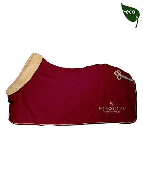 Equestrian Stockholm Fleece Rug Bordeaux