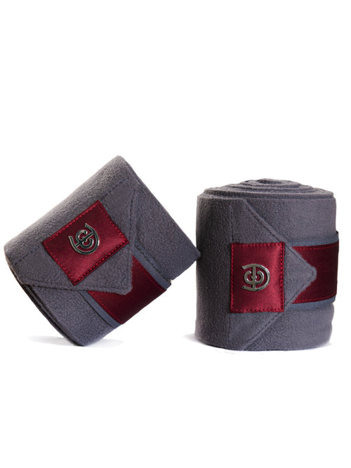 Equestrian Stockholm Bandages Grey Bordeaux