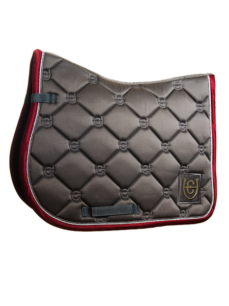 Equestrian Stockholm Jumping Saddle Pad Grey Bordeaux