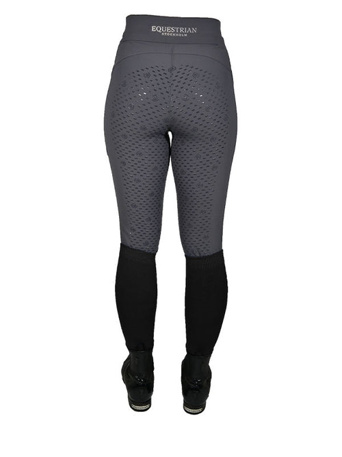 Equestrian Stockholm Full Seat Riding Tights Grey