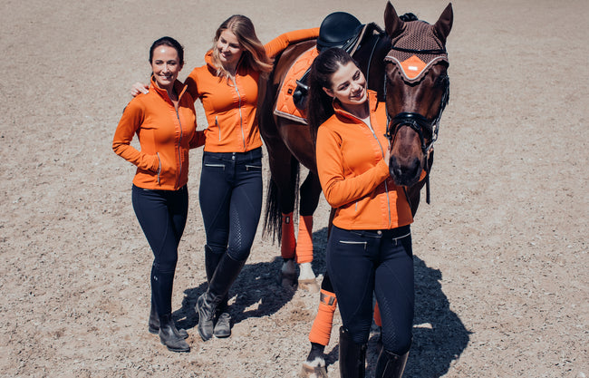 Equestrian Stockholm Fleece Jacket Brick Orange