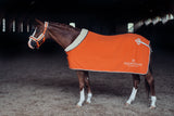 Equestrian Stockholm Fleece Rug Brick Orange