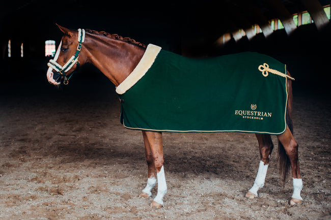 Equestrian Stockholm Fleece Rug Forest Green