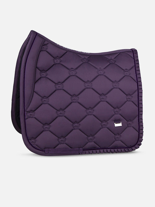 PS of Sweden Ruffle Dressage Saddle Pad Plum