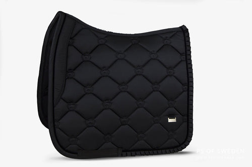 PS of Sweden Ruffle Dressage Saddle Pad Black