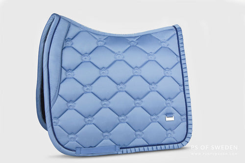 PS of Sweden Ruffle Dressage Saddle Pad Light Blue