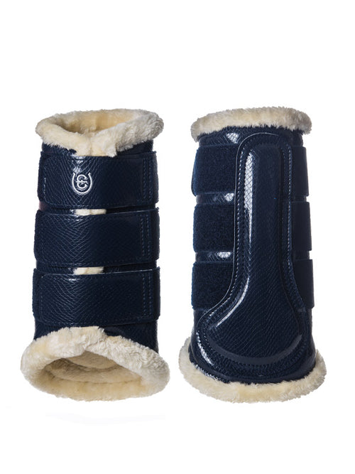 Equestrian Stockholm Fleece Brushing Boots Navy