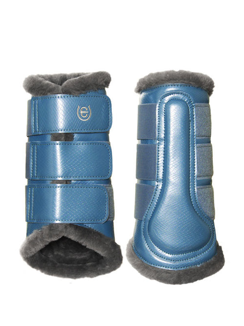 Equestrian Stockholm Fleece Brushing Boots Parisian Blue