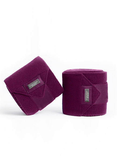 Equestrian Stockholm Bandages Purple White Edge
