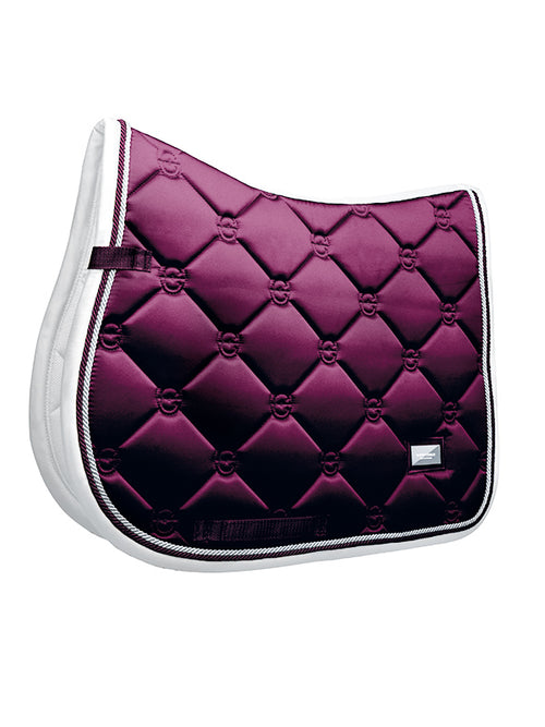 Equestrian Stockholm Jumping Saddle Pad Purple White Edge