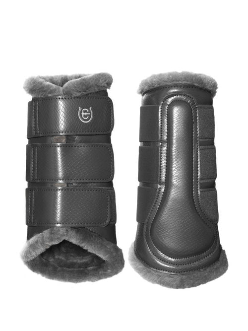 Equestrian Stockholm Fleece Brushing Boots Silver Cloud