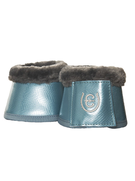 Equestrian Stockholm Fleece Bell Boots Steel Blue