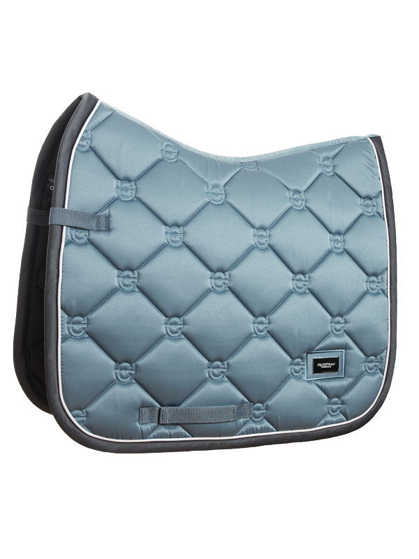 Equestrian Stockholm Dressage Saddle Pad Steel Blue