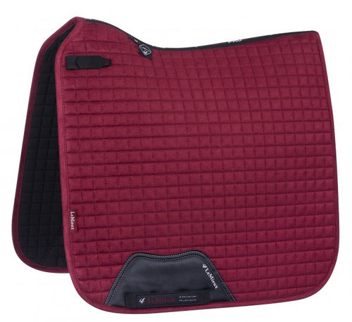 LeMieux Suede Dressage Saddle Pad Mulberry