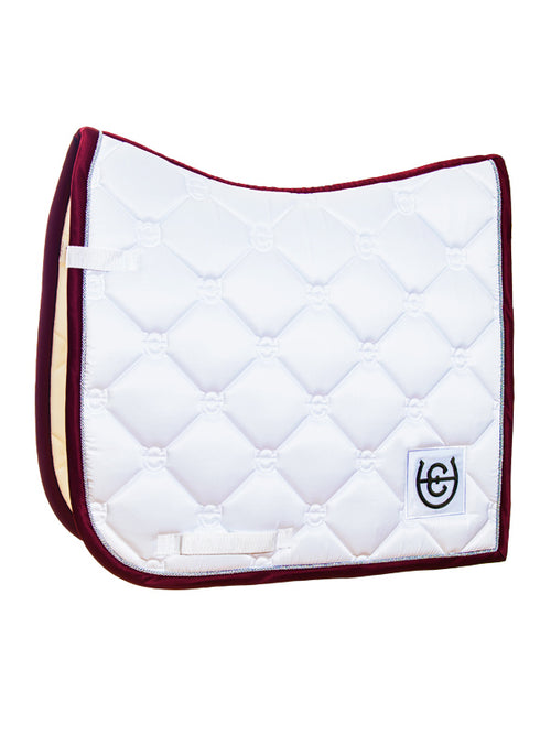 Equestrian Stockholm Dressage Saddle Pad White Bordeaux