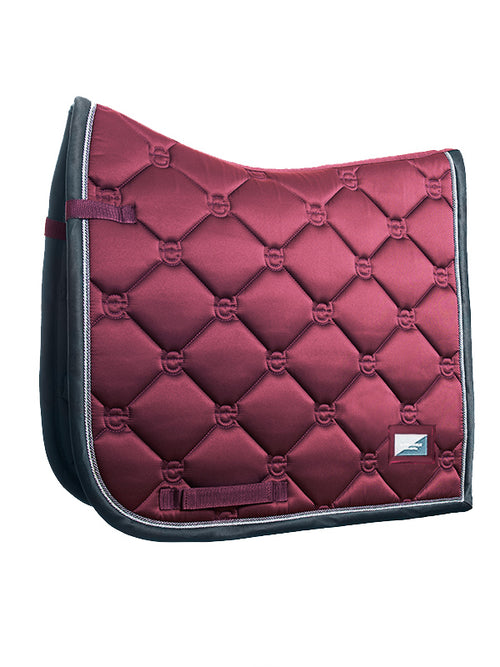 Equestrian Stockholm Dressage Saddle Pad Winter Rose
