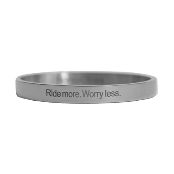 Horse Gloss 'Ride more. Worry less' Bracelet Silver