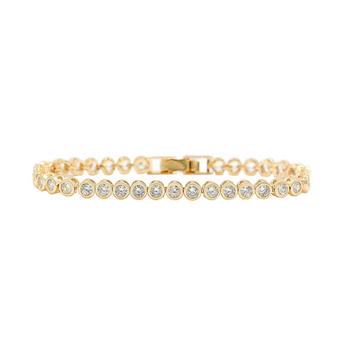 Horse Gloss Cubic Zirconia Stone Bracelet Gold
