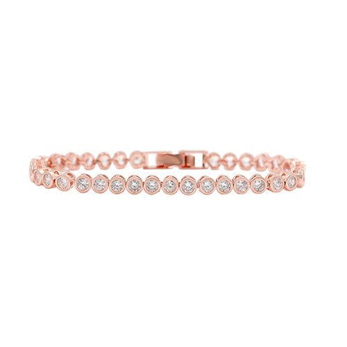 Horse Gloss Cubic Zirconia Stone Bracelet Rose Gold