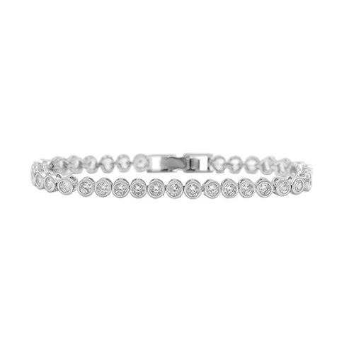 Horse Gloss Cubic Zirconia Stone Bracelet Silver