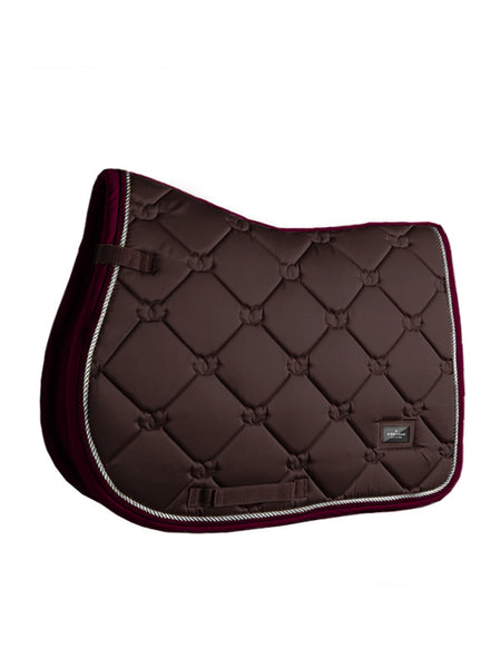 Equestrian Stockholm Jumping Saddle Pad Deep Brown Bordeaux