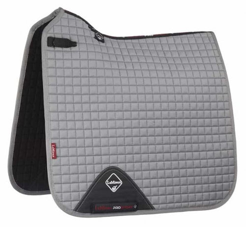 LeMieux Cotton Dressage Saddle Pad Grey