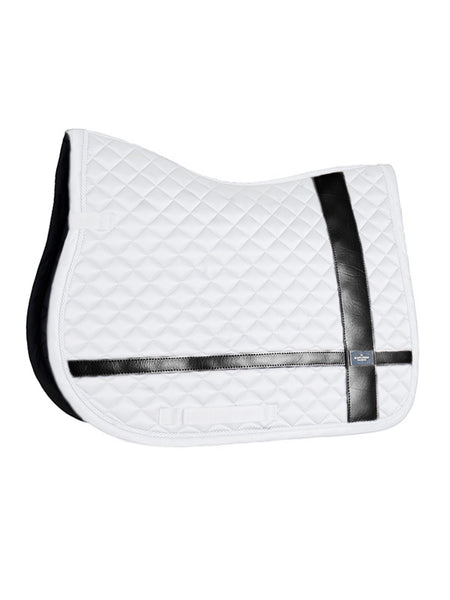 Equestrian Stockholm Jumping Saddle Pad No Boundaries White