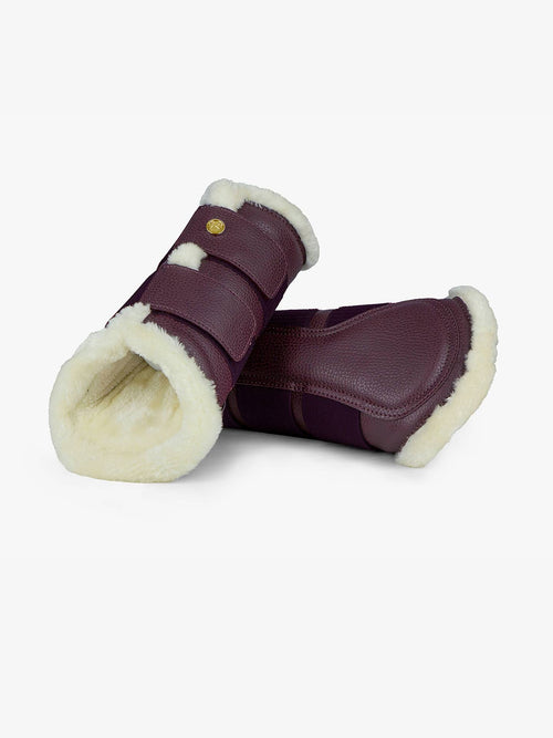 PS of Sweden Fleece Brushing Boots Wine | set of 4