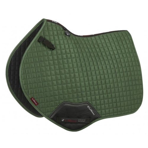 LeMieux Suede Jumping Saddle Pad Hunter Green