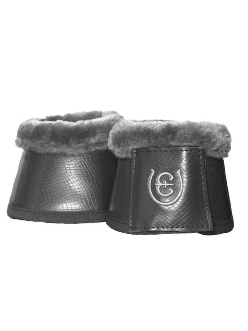Equestrian Stockholm Fleece Bell Boots Silver Cloud