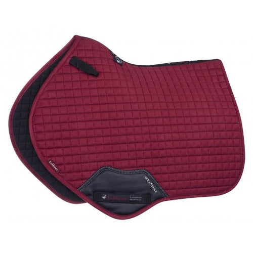 LeMieux Suede Jumping Saddle Pad Mulberry