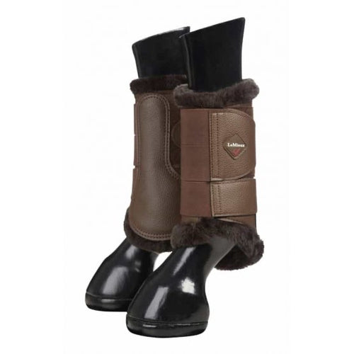 LeMieux Fleece Brushing Boots Brown/Brown