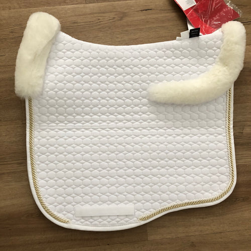 Mattes White & Champagne L Dressage Eurofit Top Sheepskin