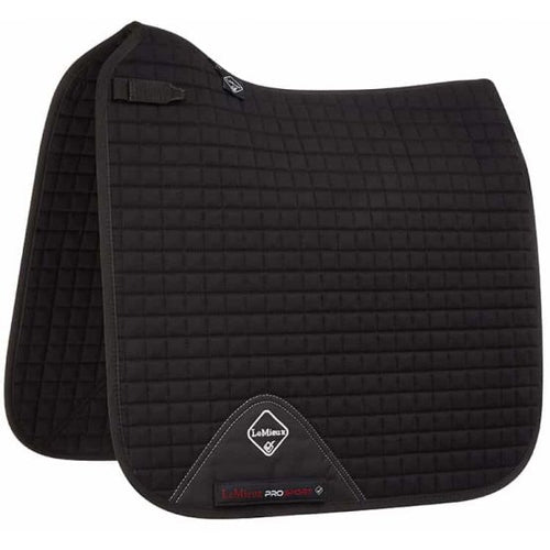 LeMieux Cotton Dressage Saddle Pad Black