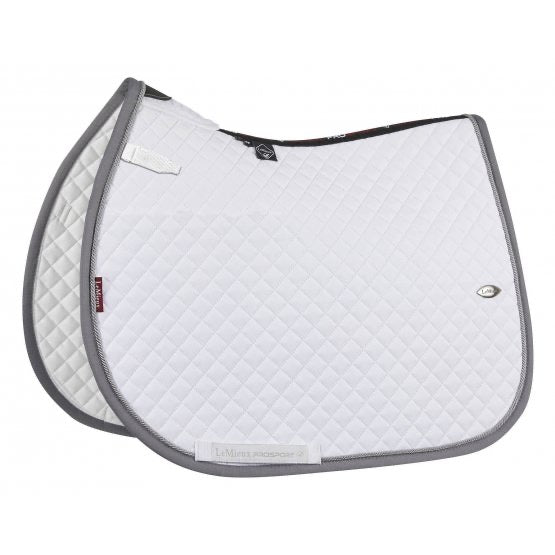 LeMieux Wither Relief Mesh Jumping Saddle Pad White