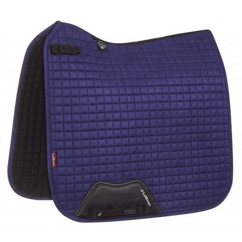 LeMieux Suede Dressage Saddle Pad Ink Blue