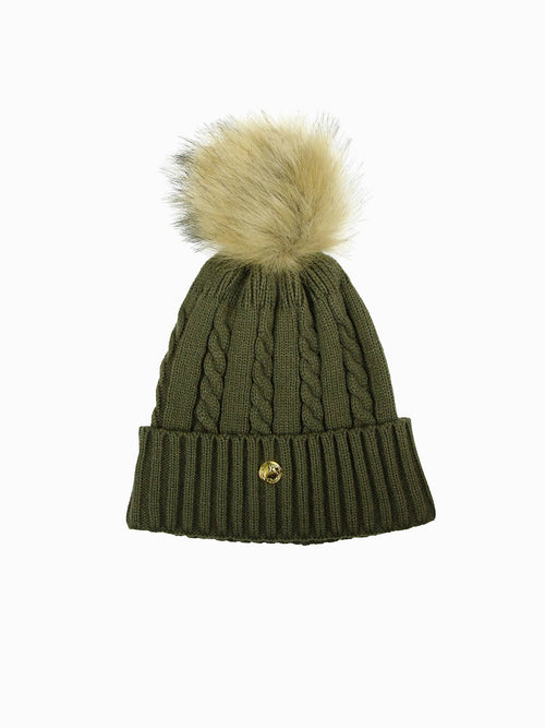 PS of Sweden Samantha Knitted Beanie Moss