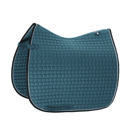 Eskadron Classic Sports Cotton Small Square Saddle Pad Teal Blue