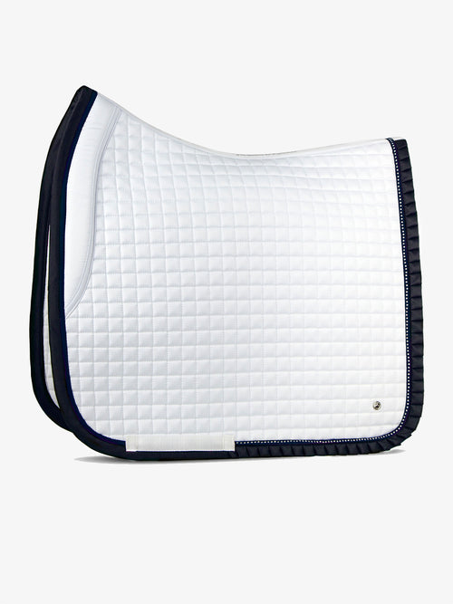 PS of Sweden Ruffle Dressage Saddle Pad White & Navy