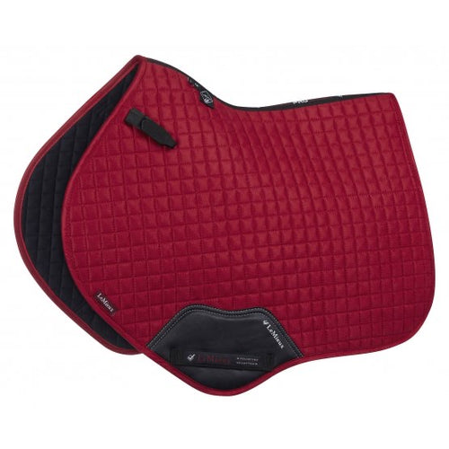 LeMieux Suede Jumping Saddle Pad Chilli